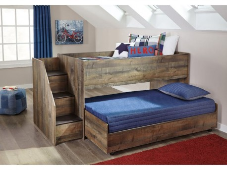Ashley Trinell Twin Loft Bed With Loft Caster Storage Bed Available Online in Dallas Fort Worth Texas