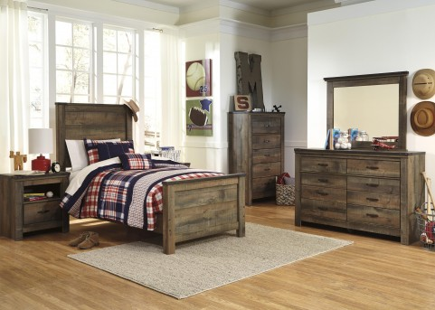 Ashley Trinell 5pc Full Panel Bedroom Group Available Online in Dallas Fort Worth Texas