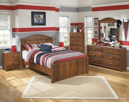 Ashley Barchan 5pc Full Panel Bedroom Group Available Online in Dallas Fort Worth Texas