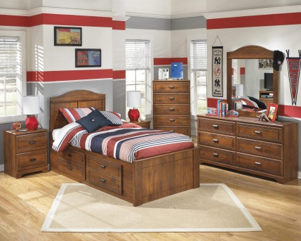 Ashley Barchan 5pc Twin Panel Storage Bedroom Group Available Online in Dallas Fort Worth Texas