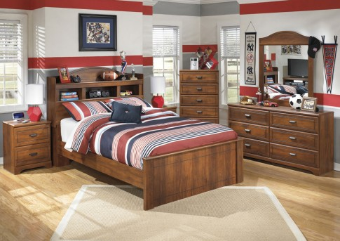 Ashley Barchan 5pc Full Bookcase Bedroom Group Available Online in Dallas Fort Worth Texas