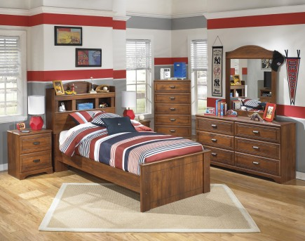 Ashley Barchan 5pc Twin Bookcase Headboard Panel Bedroom Group Available Online in Dallas Fort Worth Texas