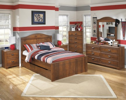 Ashley Barchan 5pc Full Panel With Trundle Bedroom Group Available Online in Dallas Fort Worth Texas