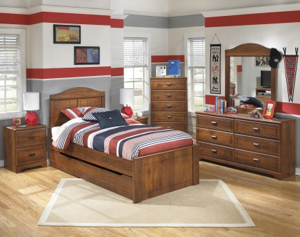 Ashley Barchan 5pc Twin Panel With Trundle Bedroom Group Available Online in Dallas Fort Worth Texas