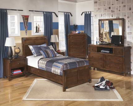 Ashley Delburne 5pc Twin Panel Bedroom Group Available Online in Dallas Fort Worth Texas