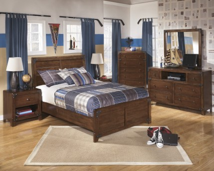 Ashley Delburne 5pc Full Panel Bedroom Group Available Online in Dallas Fort Worth Texas