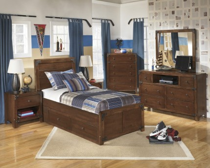 Ashley Delburne 5pc Twin Panel With Storage Bedroom Group Available Online in Dallas Fort Worth Texas