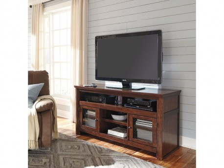 Ashley Harpan Reddish Brown Large TV Stand Available Online in Dallas Fort Worth Texas