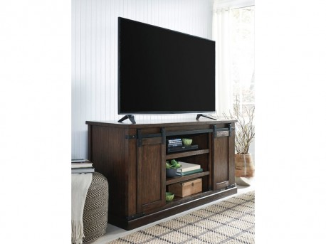 Ashley Budmore Rustic Brown Large TV Stand Available Online in Dallas Fort Worth Texas