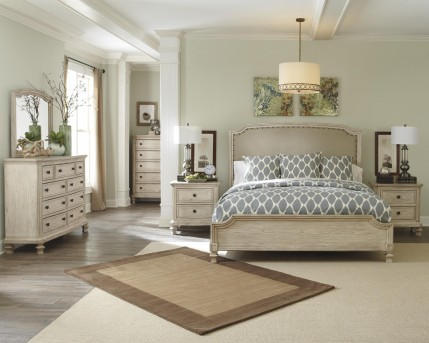 Ashley Demarlos 5pc Cal King Upholstered Panel Bedroom Group Available Online in Dallas Fort Worth Texas