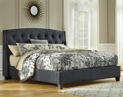 Ashley Kasidon Grey Cal King Upholstered Bed Available Online in Dallas Fort Worth Texas
