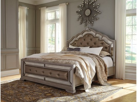 Ashley Birlanny King Upholstered Bed Available Online in Dallas Fort Worth Texas