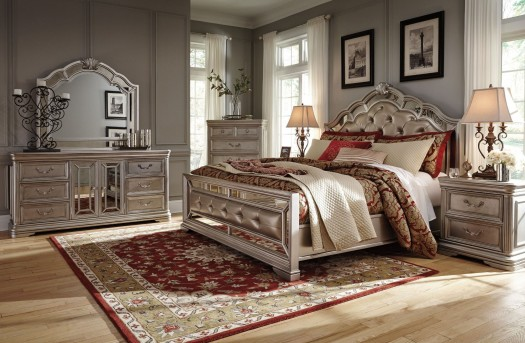Ashley Birlanny 5pc King Upholstered Bedroom Group Available Online in Dallas Fort Worth Texas