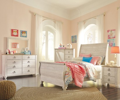 Ashley Willowton 5pc Full Sleigh Bedroom Group Available Online in Dallas Fort Worth Texas