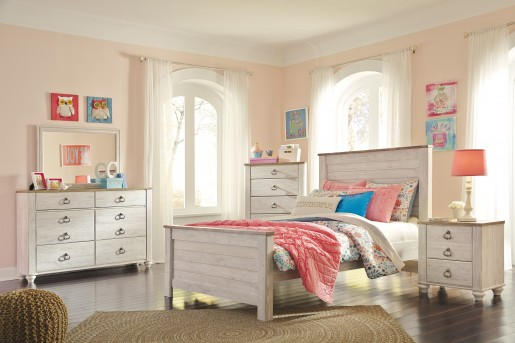Ashley Willowton 5pc Full Panel Bedroom Group Available Online in Dallas Fort Worth Texas