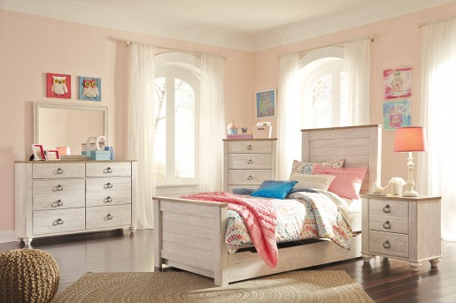 Ashley Willowton 5pc Twin Panel Storage Bedroom Group Available Online in Dallas Fort Worth Texas