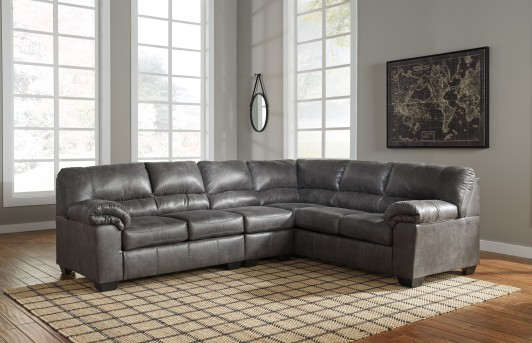 Ashley Bladen 3pc Slate Right Arm Facing Sofa Sectional Available Online in Dallas Fort Worth Texas
