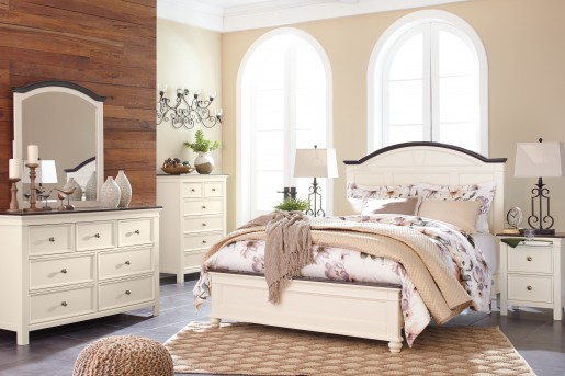 Ashley Woodanville 5pc Queen Panel Bedroom Group Available Online in Dallas Fort Worth Texas