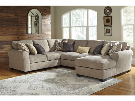 Ashley Pantomine 4pc Right Arm Facing Chaise Sectional Available Online in Dallas Fort Worth Texas