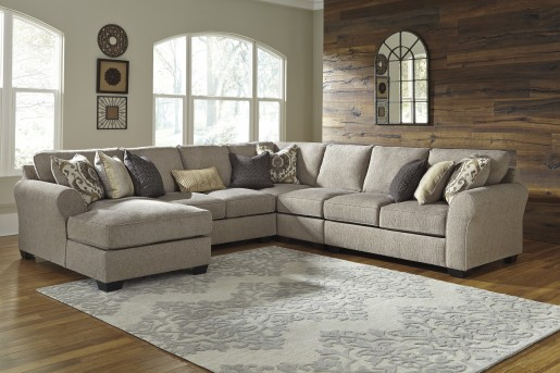 Ashley Pantomine 4pc Left Arm Facing Corner Chaise Sectional Available Online in Dallas Fort Worth Texas