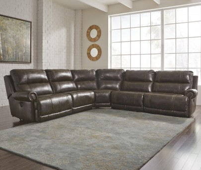 Ashley Dak Durablend 5pc Reclining Sectional Available Online in Dallas Fort Worth Texas