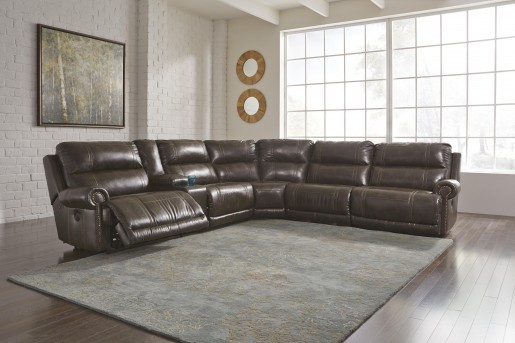 Ashley Dak Durablend 6pc Power Recliner Sectional Available Online in Dallas Fort Worth Texas