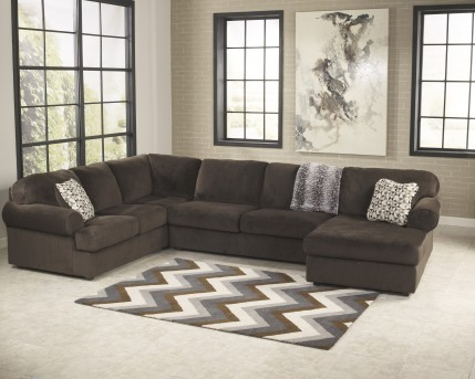 Ashley Jessa Place 3pc Right Arm Facing Corner Chaise Sectional Available Online in Dallas Fort Worth Texas