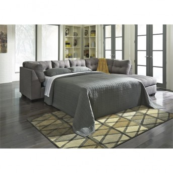 Ashley Maier 3pc Charcoal Left Arm Facing Full Sleeper Sofa Sectional Available Online in Dallas Fort Worth Texas