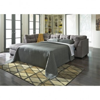 Ashley Maier 3pc Charcoal Right Arm Facing Full Sleeper Sofa Sectional Available Online in Dallas Fort Worth Texas