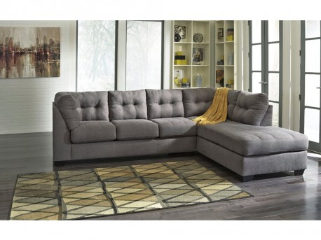 Ashley Maier 2pc Charcoal Right Arm Facing Corner Chaise Sectional Available Online in Dallas Fort Worth Texas