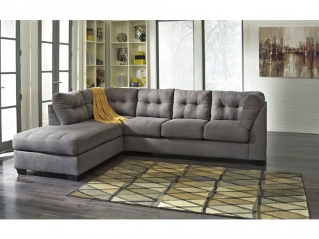Ashley Maier 2pc Charcoal Left Arm Facing Corner Chaise Sectional Available Online in Dallas Fort Worth Texas