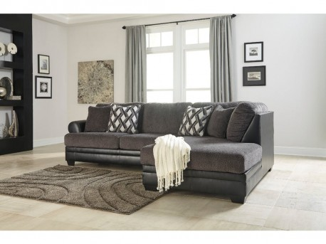 Ashley Kumasi 2pc Right Arm Facing Corner Chaise Sectional Available Online in Dallas Fort Worth Texas