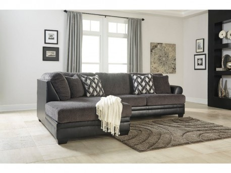 Ashley Kumasi 2pc Left Arm Facing Corner Chaise Sectional Available Online in Dallas Fort Worth Texas