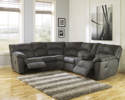 Ashley Tambo 2pc Reclining Loveseat Sectional Available Online in Dallas Fort Worth Texas