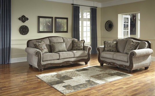 Ashley Cecilyn Cocoa  2pc Sofa and Loveseat Set Available Online in Dallas Fort Worth Texas