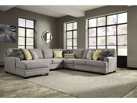 Ashley Cresson 5pc Left Arm Facing Chaise Sectional Available Online in Dallas Fort Worth Texas