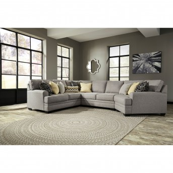 Ashley Cresson 4pc Right Arm Facing Cuddler Sectional Available Online in Dallas Fort Worth Texas