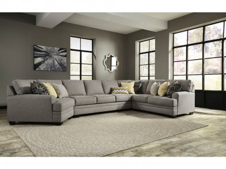 Ashley Cresson 4pc Left Arm Facing Cuddler Sectional with Sofa Available Online in Dallas Fort Worth Texas