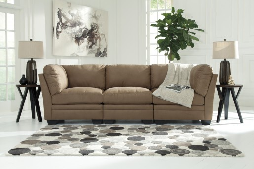 Ashley Lago Mocha 2pc Sectional Available Online in Dallas Fort Worth Texas