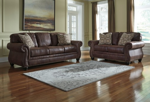 Ashley Breville 2pc Espresso Sofa & Loveseat Set Available Online in Dallas Fort Worth Texas