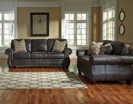 Ashley Breville 2pc Charcoal Sofa & Loveseat Set Available Online in Dallas Fort Worth Texas