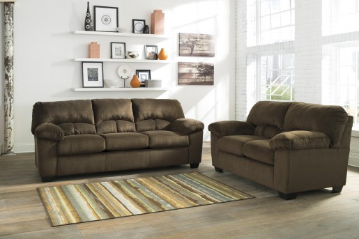 Ashley Dailey 2pc Chocolate Sofa & Loveseat Set Available Online in Dallas Fort Worth Texas