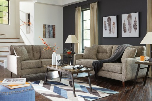 Ashley Chento Jute 2pc Sofa & Loveseat Set Available Online in Dallas Fort Worth Texas
