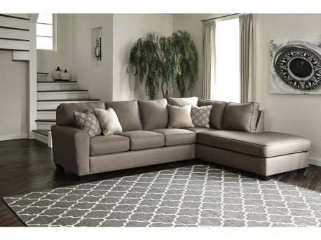 Ashley Calicho 2pc Right Arm Facing Corner Chaise Sectional Available Online in Dallas Fort Worth Texas