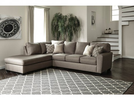 Ashley Calicho 2pc Left Arm Facing Corner Chaise Sectional Available Online in Dallas Fort Worth Texas