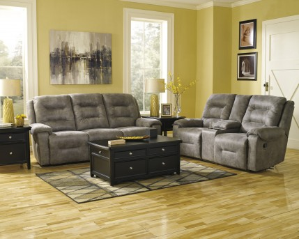 Ashley Rotation 2pc Smoke Reclining Sofa & Loveseat Set Available Online in Dallas Fort Worth Texas