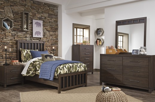 Brissley 5pc Twin Panel Bedroom Set Available Online in Dallas Fort Worth Texas