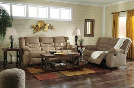 Ashley Tulen 2pc Mocha Sofa & Loveseat Set Available Online in Dallas Fort Worth Texas