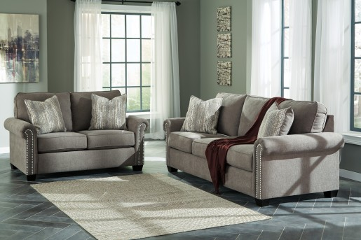 Ashley Gilman 2pc Charcoal Sofa & Loveseat Set Available Online in Dallas Fort Worth Texas