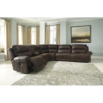 Ashley Luttrell 6pc Reclining Sectional Available Online in Dallas Fort Worth Texas